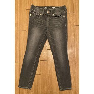 Seven 7 Jeans Size 6 Gray Skinny Jeans 28 Inseam